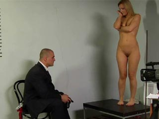 Bdsm strip Forced to